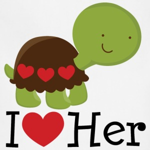 I Heart Her (Turtle) Mens T Shirt | Matching Datin - Adjustable Apron