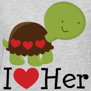 I Heart Her (Turtle) Mens T Shirt | Matching Datin - Men's Premium Long Sleeve T-Shirt