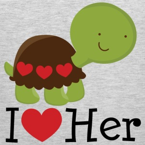 I Heart Her (Turtle) Mens T Shirt | Matching Datin - Men's Premium Tank