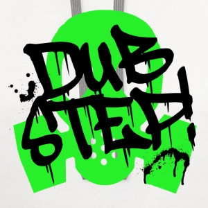 Dubstep Green Gas Mask - Contrast Hoodie