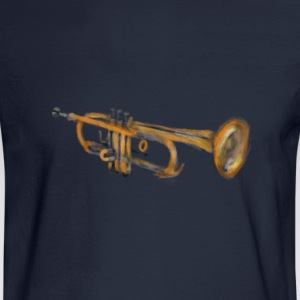 Trumpet Musician Artwork T-Shirts - Men's Long Sleeve T-Shirt