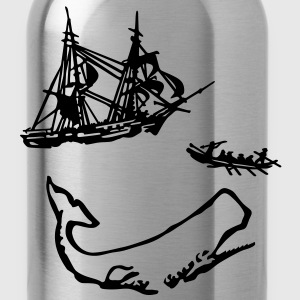 Moby Dick Illustration T-Shirts - Water Bottle