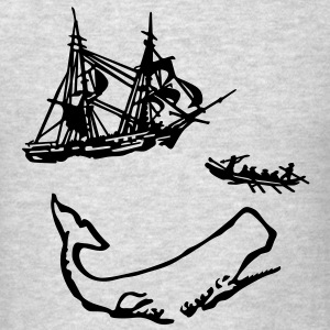Moby Dick Illustration Long Sleeve Shirts - Men's T-Shirt