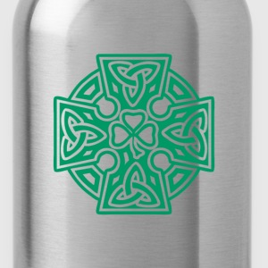 Shamrock celtic cross - Water Bottle