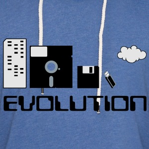 Computer Storage Evolution T-Shirts - Unisex Lightweight Terry Hoodie