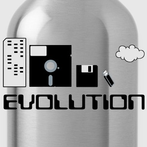 Computer Storage Evolution T-Shirts - Water Bottle