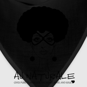 Au Naturale - Women's V-Neck TShirt Natural Hair - Bandana