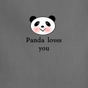 Panda loves you Valentines day tee  T-Shirts - Adjustable Apron
