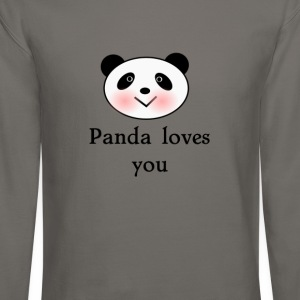 Panda loves you Valentines day tee  T-Shirts - Crewneck Sweatshirt
