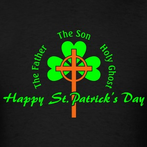 St. Patrick's Day Cross Irish Long Sleeve Shirts - Men's T-Shirt