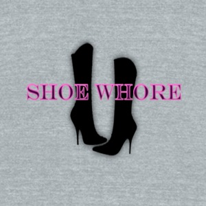 Shoe Whore Travel Mug - Unisex Tri-Blend T-Shirt by American Apparel