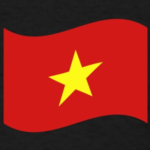 Vietnam Flag Wave Caps - Men's T-Shirt