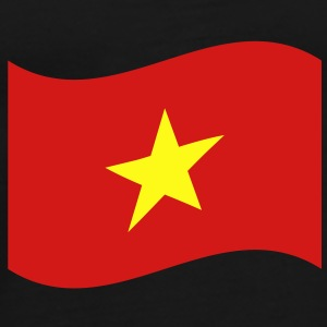 Vietnam Flag Wave Caps - Men's Premium T-Shirt