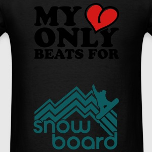 My heart only beats for Long Sleeve Shirts - Men's T-Shirt