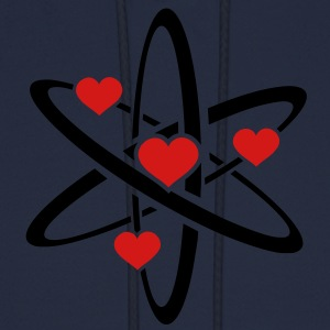 Heart Atom Long Sleeve Shirts - Men's Hoodie