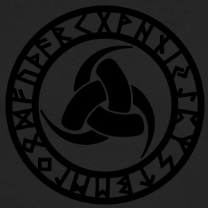 Runes, Triple Horn of Odin, Symbol of Odin T-Shirts - Men's Premium Long Sleeve T-Shirt