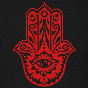 Hamsa Amulet, Hand of Fatima, Divine Protection Hoodies - Men's T-Shirt
