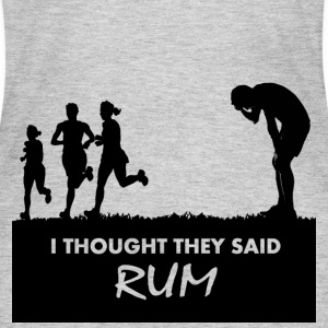 Funny Gym Shirt - I Thought They Said RUM - Women's Long Sleeve Jersey T-Shirt