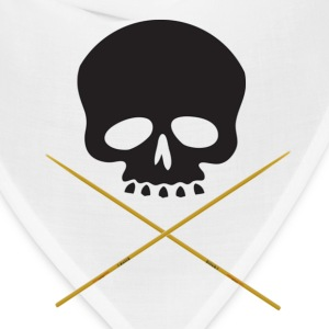 Skull with Drum Sticks - Bandana
