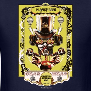Planet Beer Gear Head Steampunk Strong Ale Men's L - Men's T-Shirt