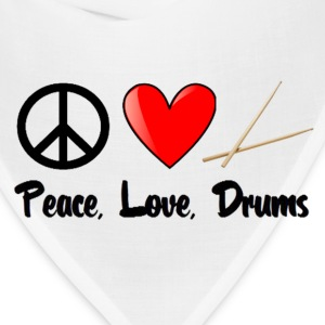 Peace, Love, Drums - Bandana