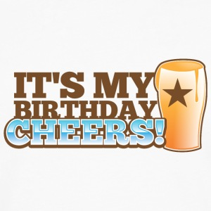 It's my BIRTHDAY! CHEERS! pint glass star Accessories - Men's Premium Long Sleeve T-Shirt