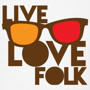 LIVE LOVE FOLK with nerdy glasses Accessories - Men's T-Shirt
