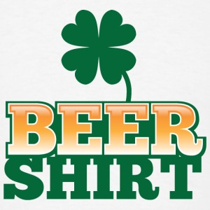 BEER SHIRT with shamrock beers pint Accessories - Men's T-Shirt