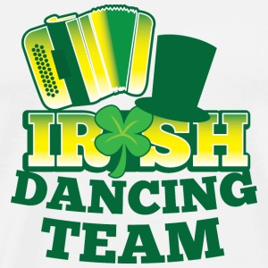 IRISH Dancing team with accordion and hat Accessories - Men's Premium T-Shirt
