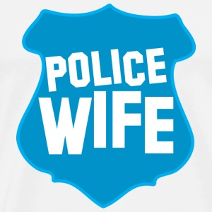 POLICE BADGE wife wive married to cops Accessories - Men's Premium T-Shirt