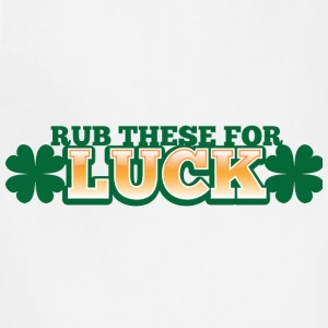 RUB THESE FOR LUCK shamrocks green lucky Accessories - Adjustable Apron