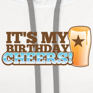 It's my BIRTHDAY! CHEERS! pint glass star Accessories - Contrast Hoodie