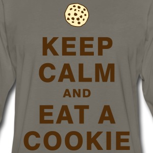 KEEP CALM AND EAT A COOKIE T-Shirts - Men's Premium Long Sleeve T-Shirt