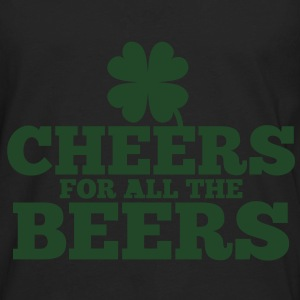 CHEERS for all the BEERS! with a shamrock Bags  - Men's Premium Long Sleeve T-Shirt