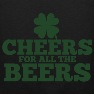 CHEERS for all the BEERS! with a shamrock Bags  - Men's Premium Tank