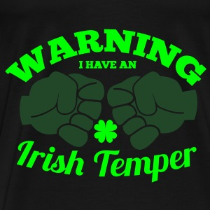 WARNING I have an IRISH TEMPER with boxing fists Bags  - Men's Premium T-Shirt