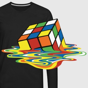 Melting Cube - Men's Premium Long Sleeve T-Shirt
