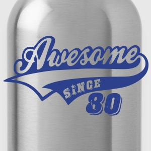 Awesome Since 1980 Hoodies - Water Bottle