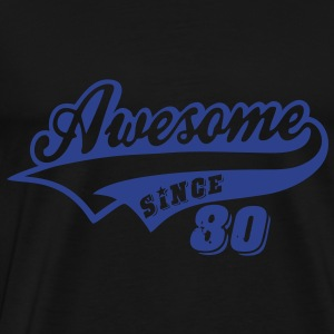 Awesome Since 1980 Hoodies - Men's Premium T-Shirt