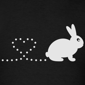 'Pooping Heart Rabbit' Ladies Sweatshirt - Men's T-Shirt