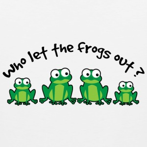 Who Let The Frogs Out? T-Shirts - Men's Premium Tank