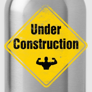 Funny Gym Shirt - Under construction - Water Bottle