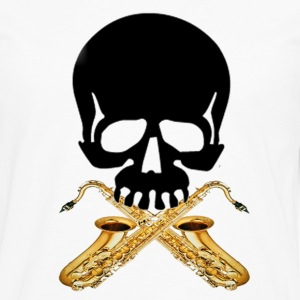 Skull with Saxophones - Men's Premium Long Sleeve T-Shirt