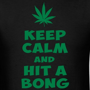 KEEP CALM AND HIT A BONG - Men's T-Shirt