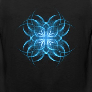 Tribal Ice - blue geometric fractal art  - Men's Premium Tank