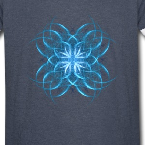 Tribal Ice - blue geometric fractal art  - Vintage Sport T-Shirt
