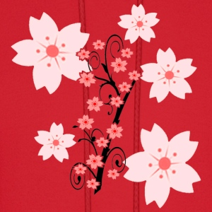 cherry blossoms womens tshirt - Men's Hoodie
