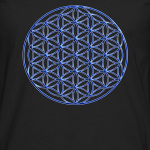 Blue Flower of Life - Sacred Geometry Symbol - Men's Premium Long Sleeve T-Shirt