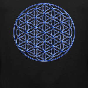Blue Flower of Life - Sacred Geometry Symbol - Men's Premium Tank