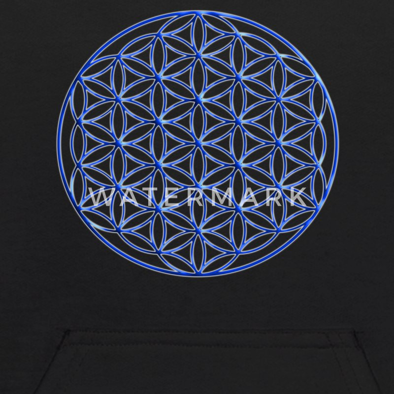 Blue Flower of Life - Sacred Geometry Symbol - Kids' Hoodie